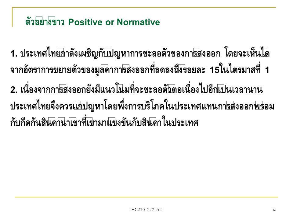 ตัวอย่างข่าว Positive or Normative