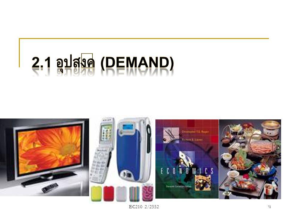 2.1 อุปสงค์ (Demand) EC210 2/2552