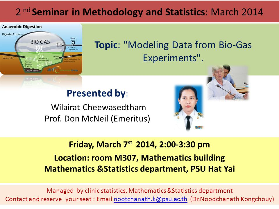 2 nd Seminar in Methodology and Statistics: March 2014