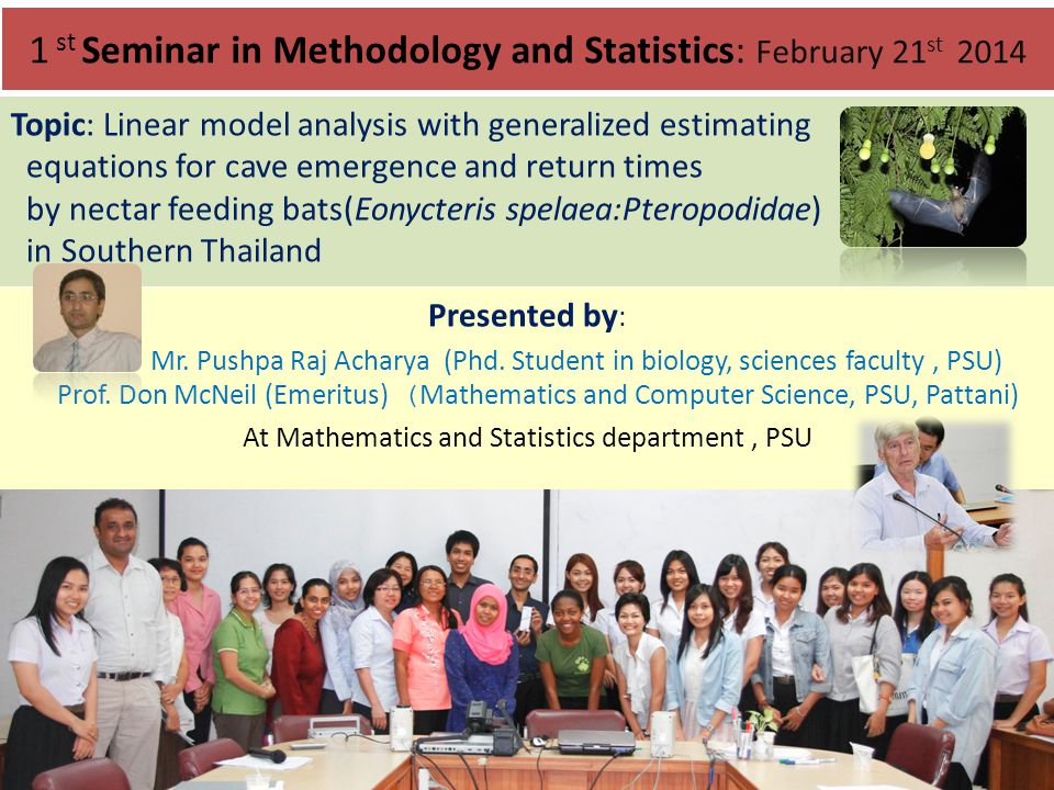 1 st Seminar in Methodology and Statistics: February 21st 2014