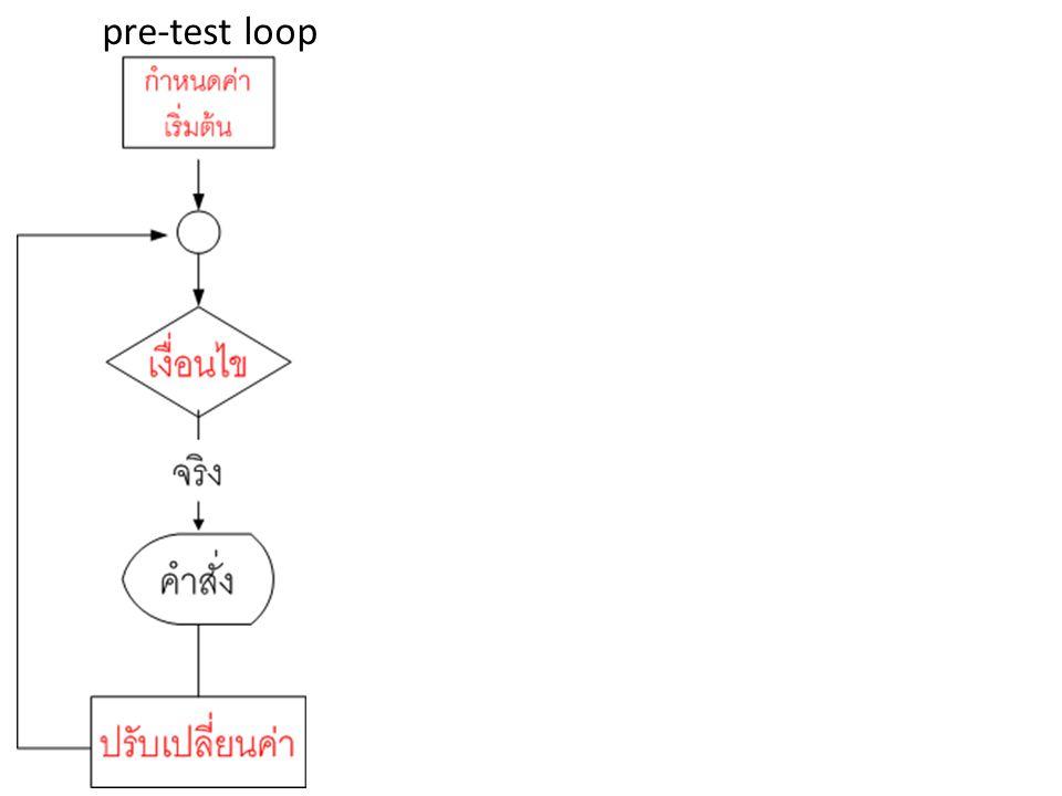 pre-test loop