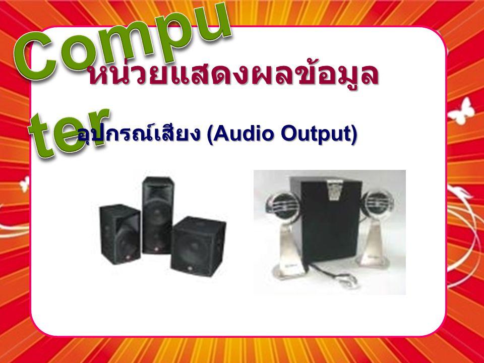หน่วยแสดงผลข้อมูล อุปกรณ์เสียง (Audio Output)