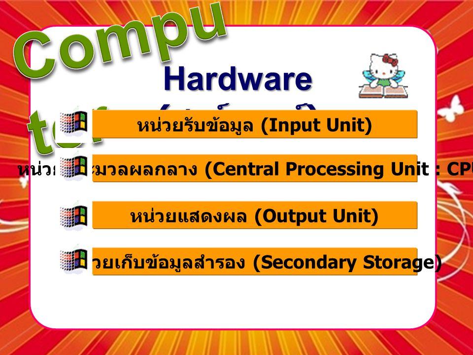 Hardware (ฮาร์ดแวร์) หน่วยรับข้อมูล (Input Unit)