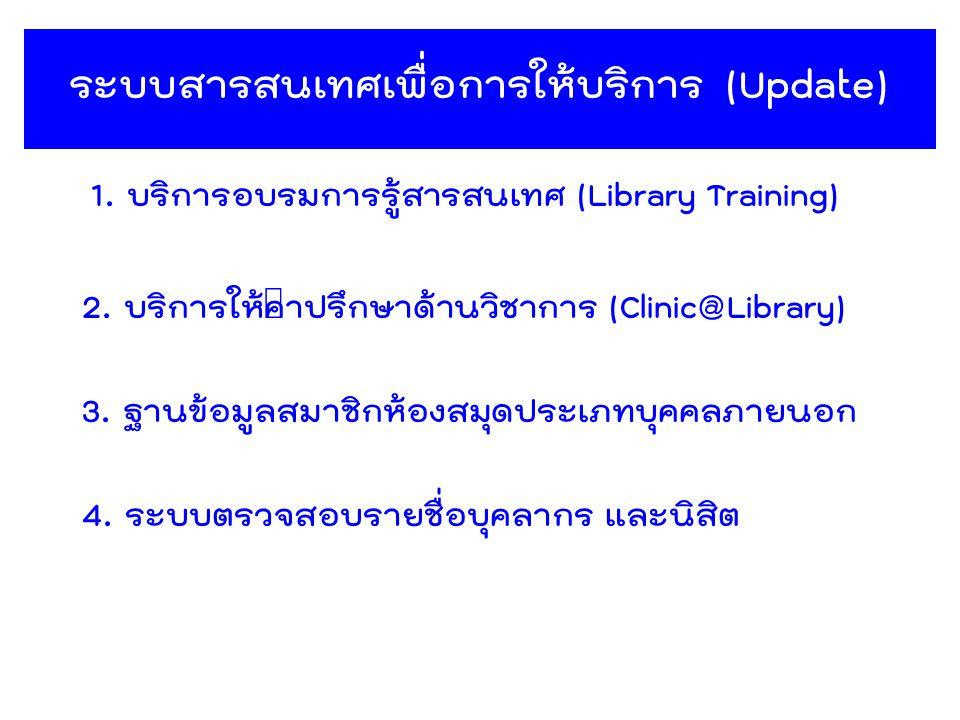 ระบบสารสนเทศเพื่อการให้บริการ (Update)