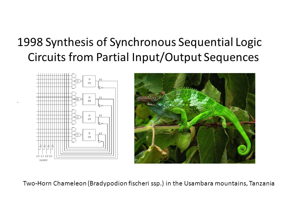 1998 Synthesis of Synchronous Sequential Logic Circuits from Partial Input/Output Sequences
