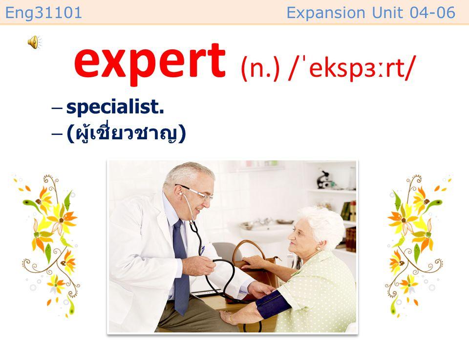 expert (n.) /ˈekspɜːrt/