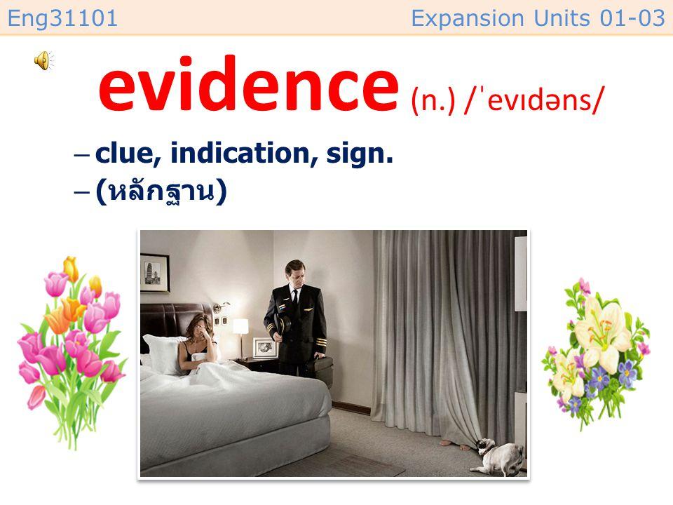 evidence (n.) /ˈevɪdəns/