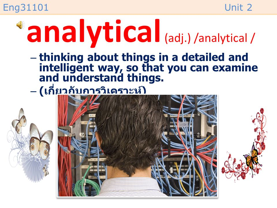 analytical (adj.) /analytical /