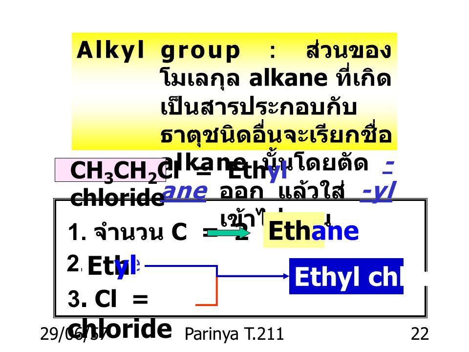 Ethane Eth yl Ethyl chloride