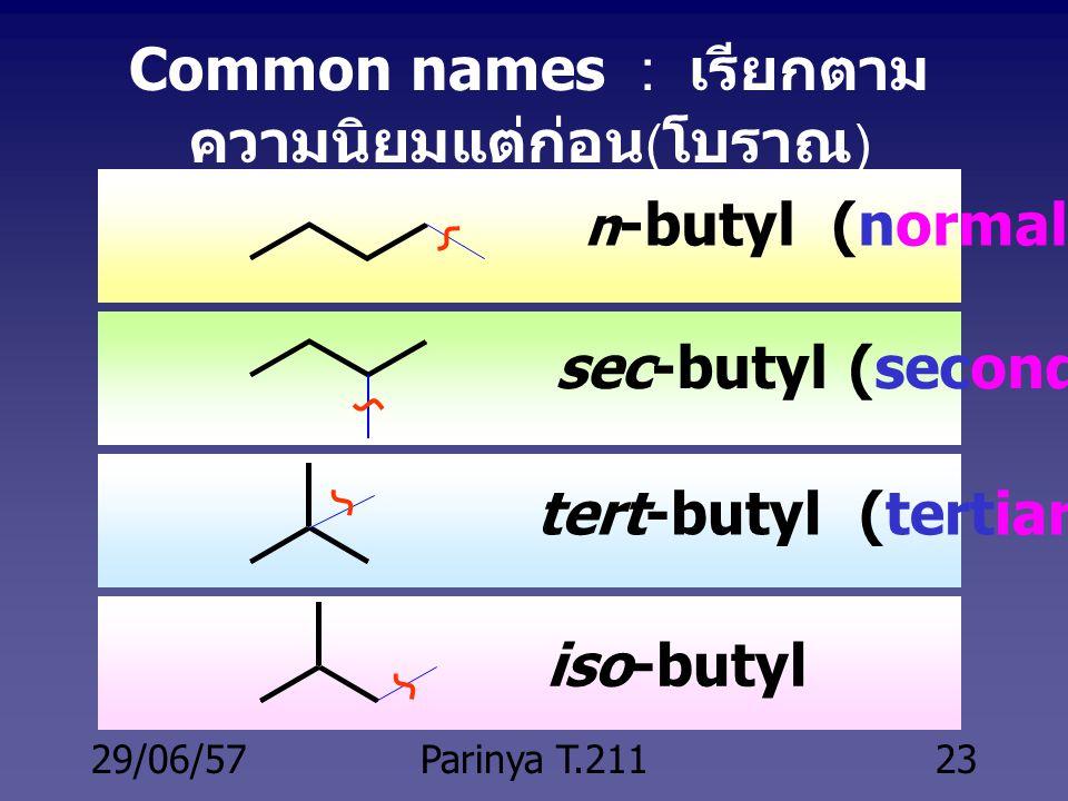 Common names : เรียกตามความนิยมแต่ก่อน(โบราณ)