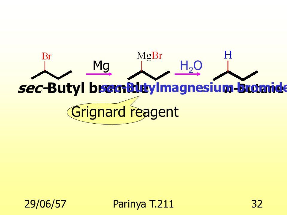 sec-Butyl bromide Grignard reagent sec-Butylmagnesium bromide n-Butane