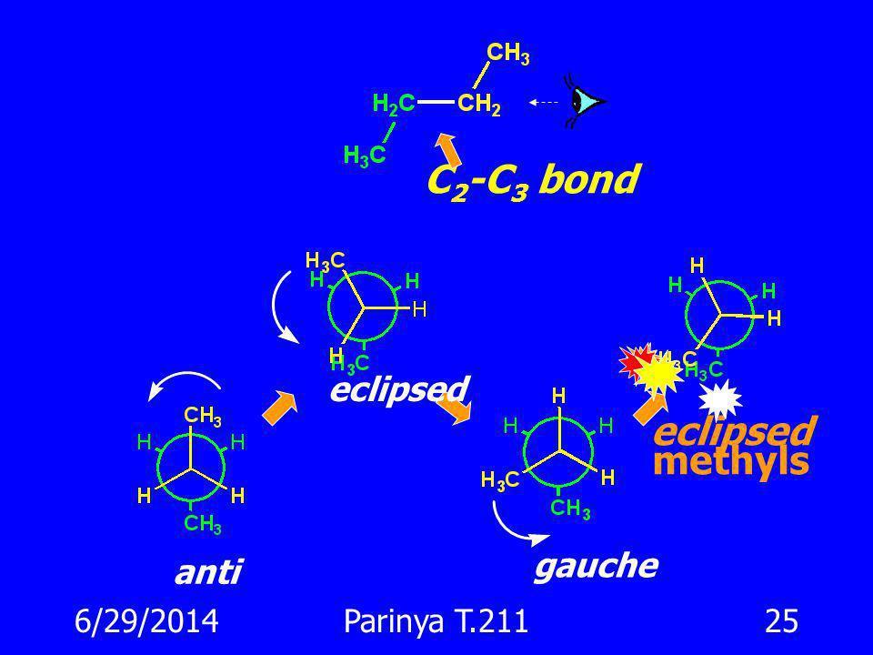 C2-C3 bond eclipsed methyls eclipsed gauche anti 4/3/2017