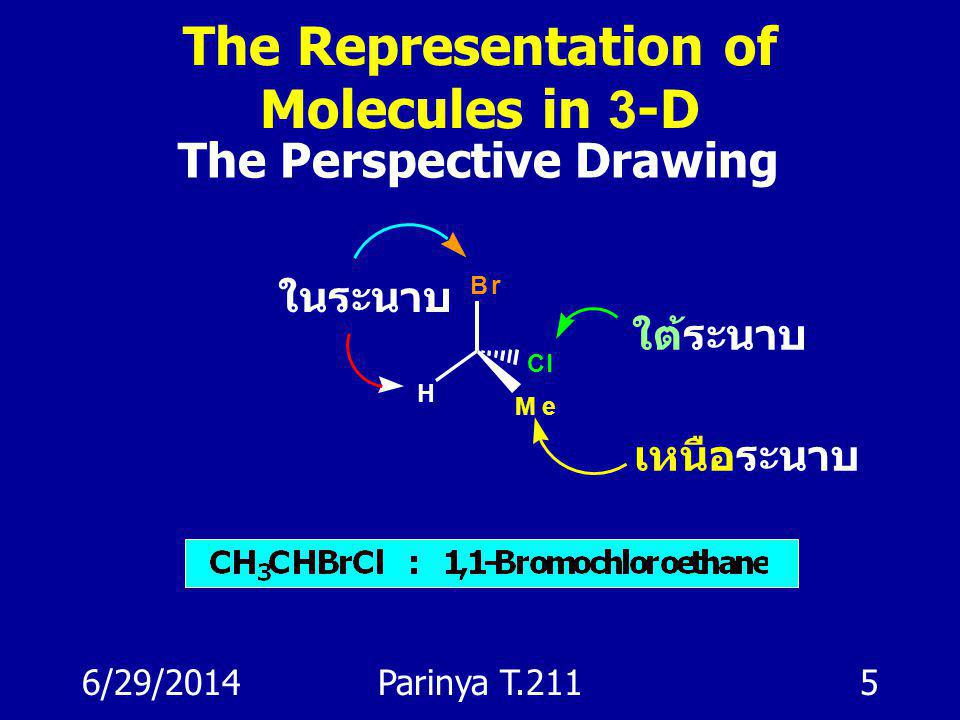 The Representation of Molecules in 3-D