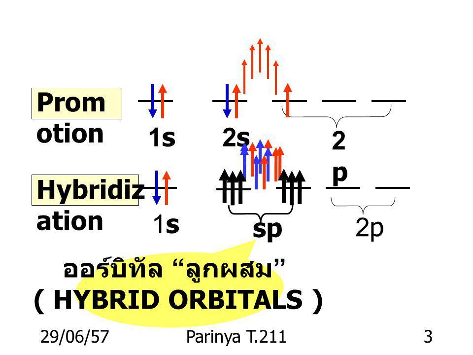 ออร์บิทัล ลูกผสม ( HYBRID ORBITALS )