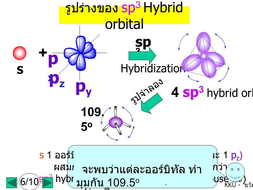 px pz py + sp3 4 sp3 hybrid orbitals รูปร่างของ sp3 Hybrid orbital