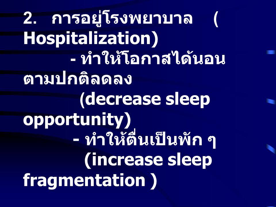 2. การอยู่โรงพยาบาล ( Hospitalization)