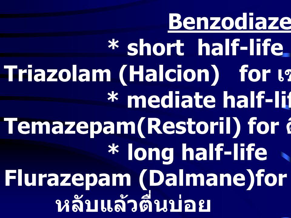 Triazolam (Halcion) for เข้านอนหลับยาก
