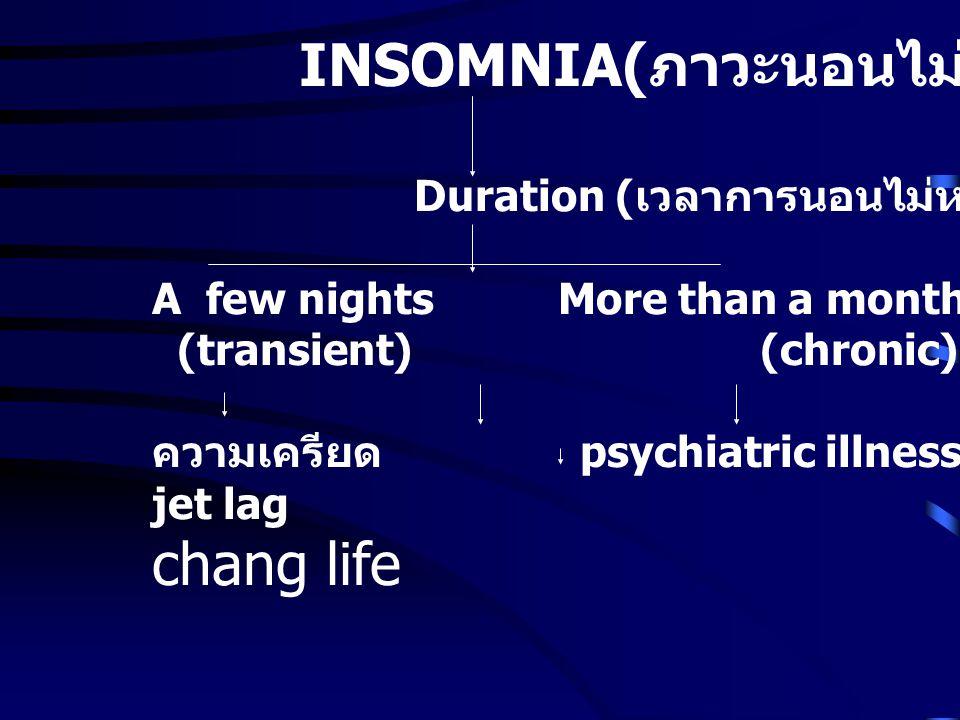 INSOMNIA(ภาวะนอนไม่หลับ)