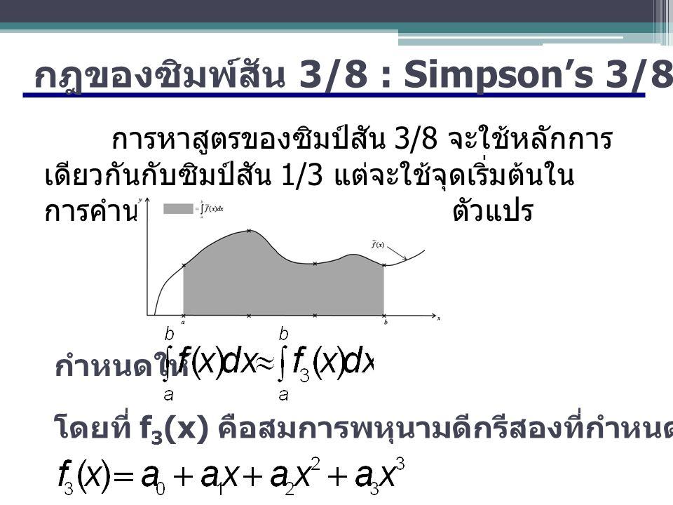 กฎของซิมพ์สัน 3/8 : Simpson's 3/8-Rule