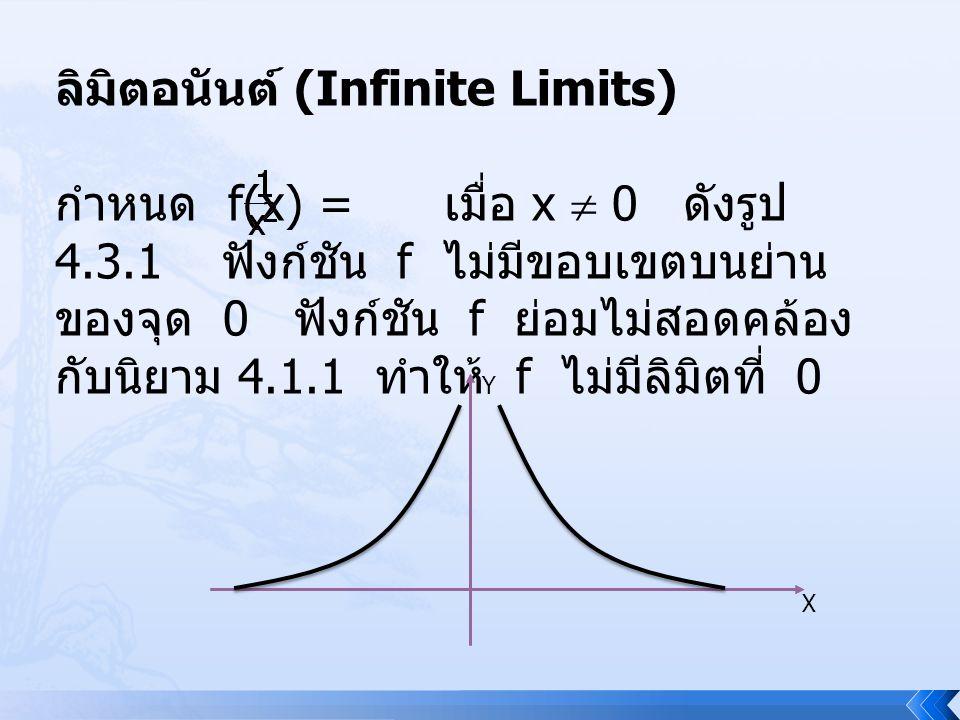ลิมิตอนันต์ (Infinite Limits)
