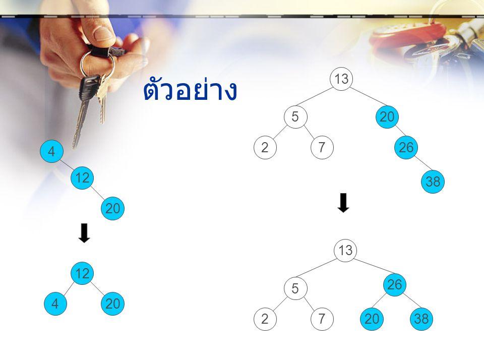 13 ตัวอย่าง 5 20 2 7 26 4 12 38 20 13 12 26 5 4 20 2 7 20 38