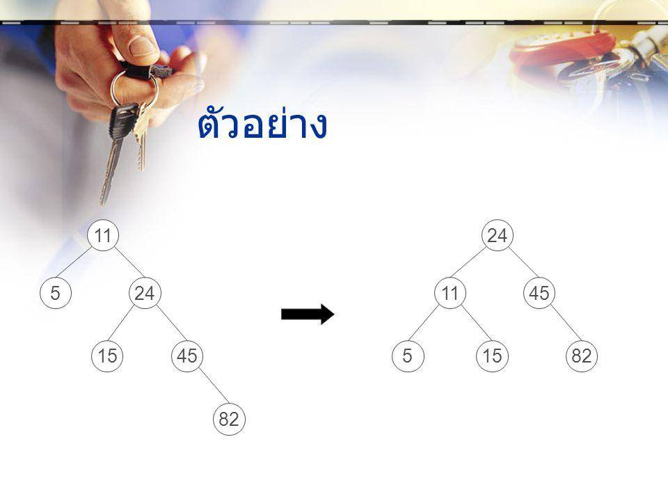 ตัวอย่าง 11 5 24 11 45 82 15 5 24 15 45 82
