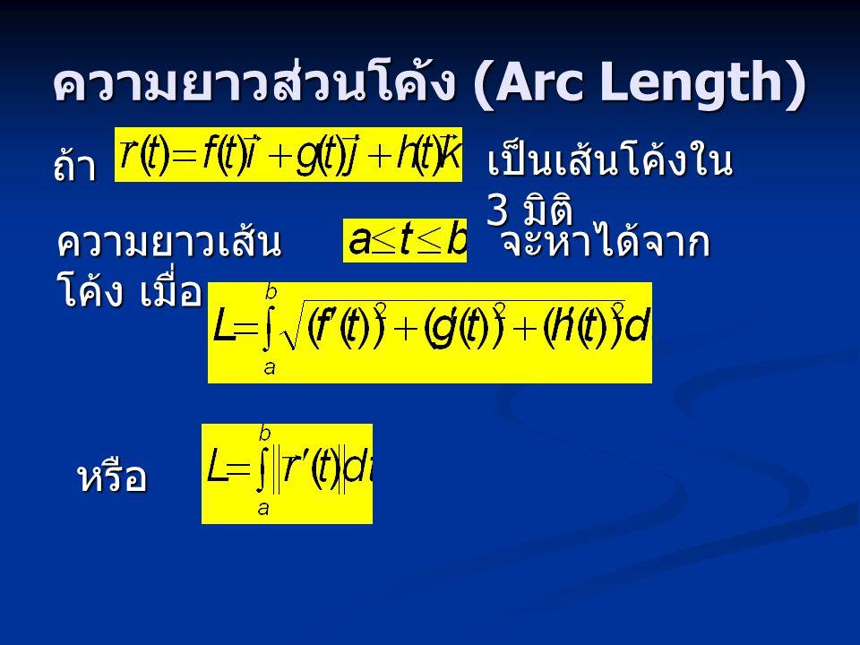 ความยาวส่วนโค้ง (Arc Length)