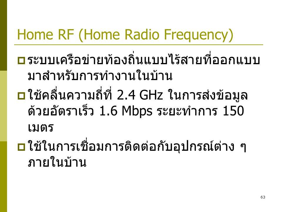 Home RF (Home Radio Frequency)
