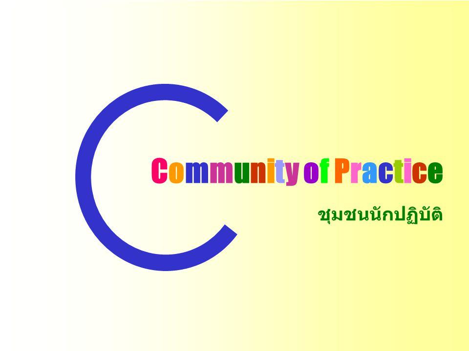 Community of Practice ชุมชนนักปฏิบัติ