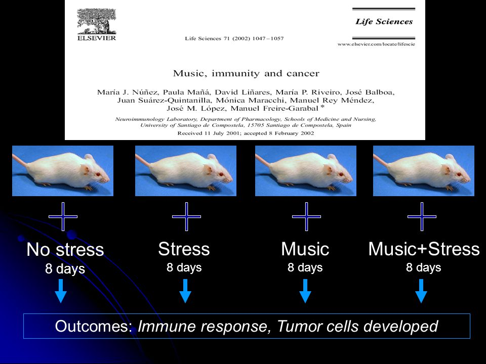 Outcomes: Immune response, Tumor cells developed