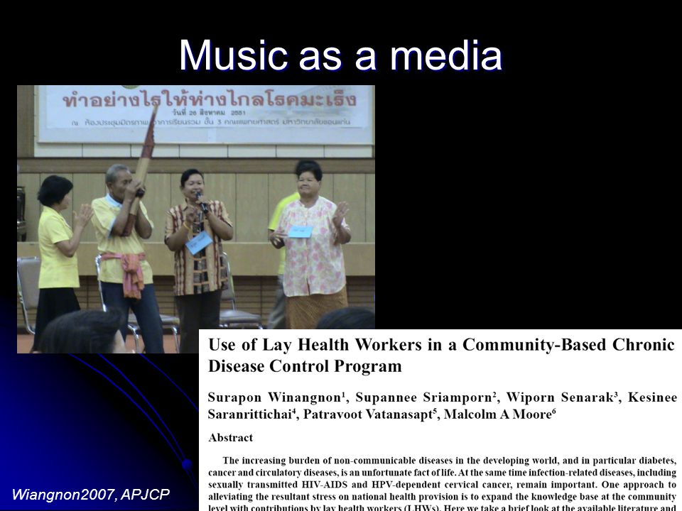 Music as a media - Health education via group participation