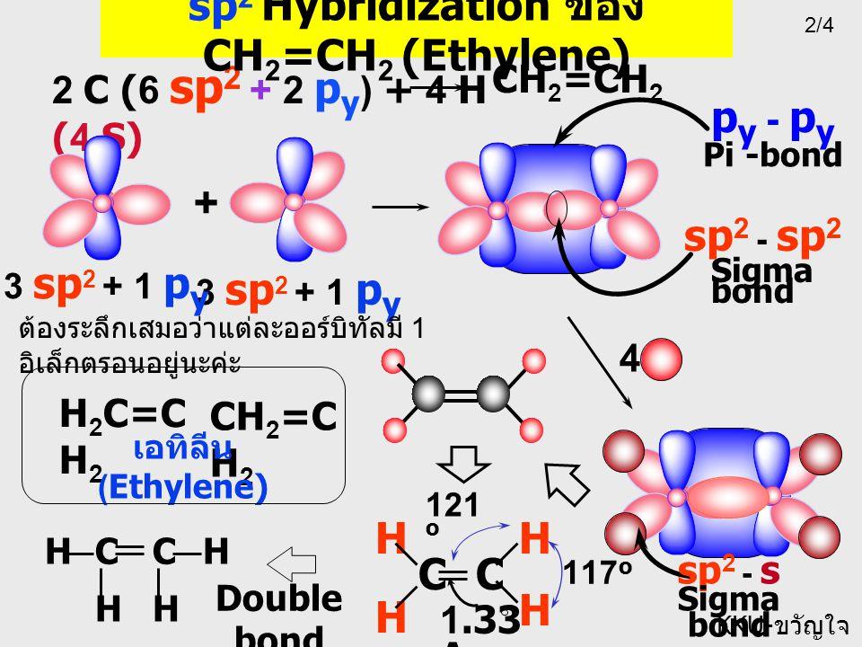 sp2 Hybridization ของ CH2=CH2 (Ethylene)