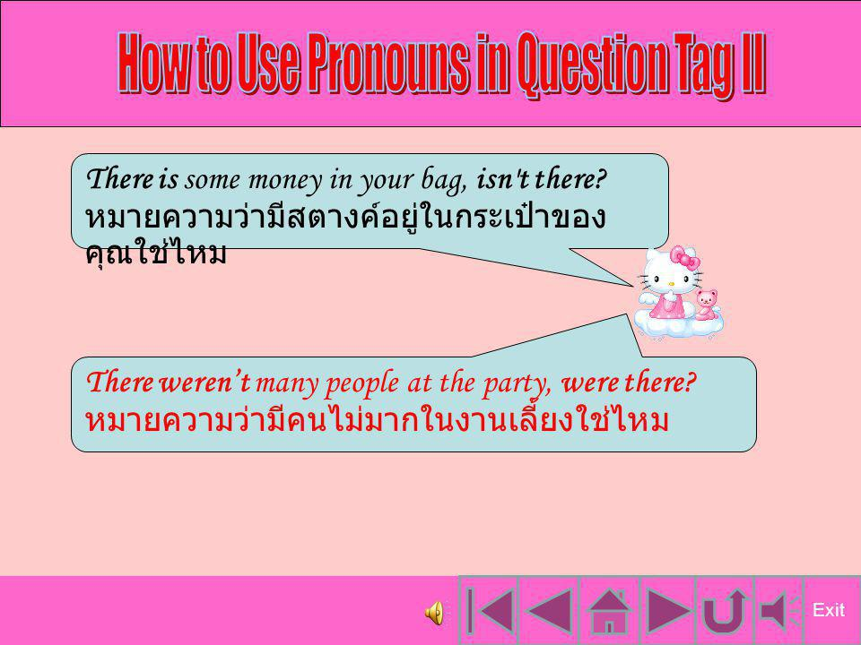 How to Use Pronouns in Question Tag II