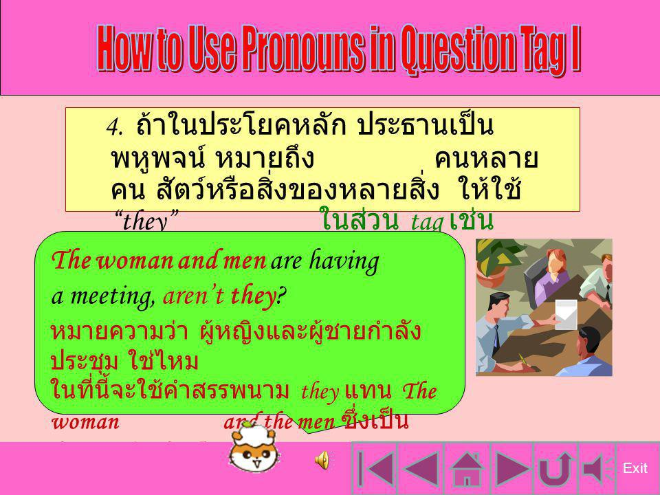 How to Use Pronouns in Question Tag I