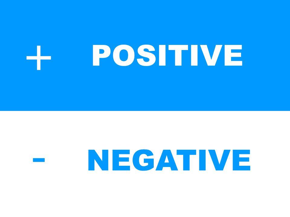 + - POSITIVE NEGATIVE