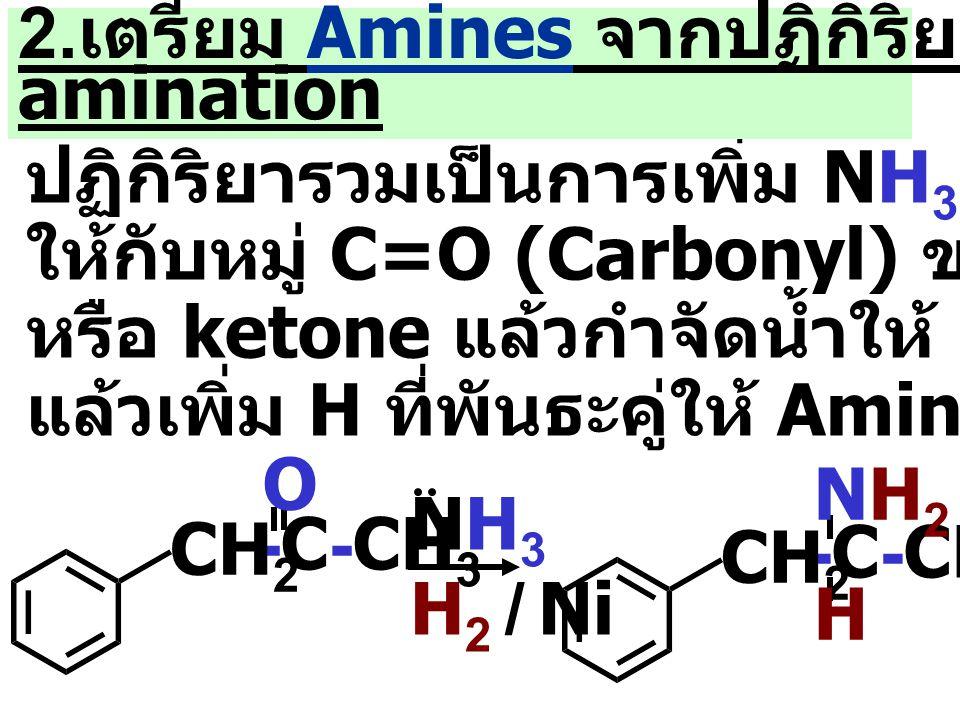2.เตรียม Amines จากปฏิกิริยา Reductive