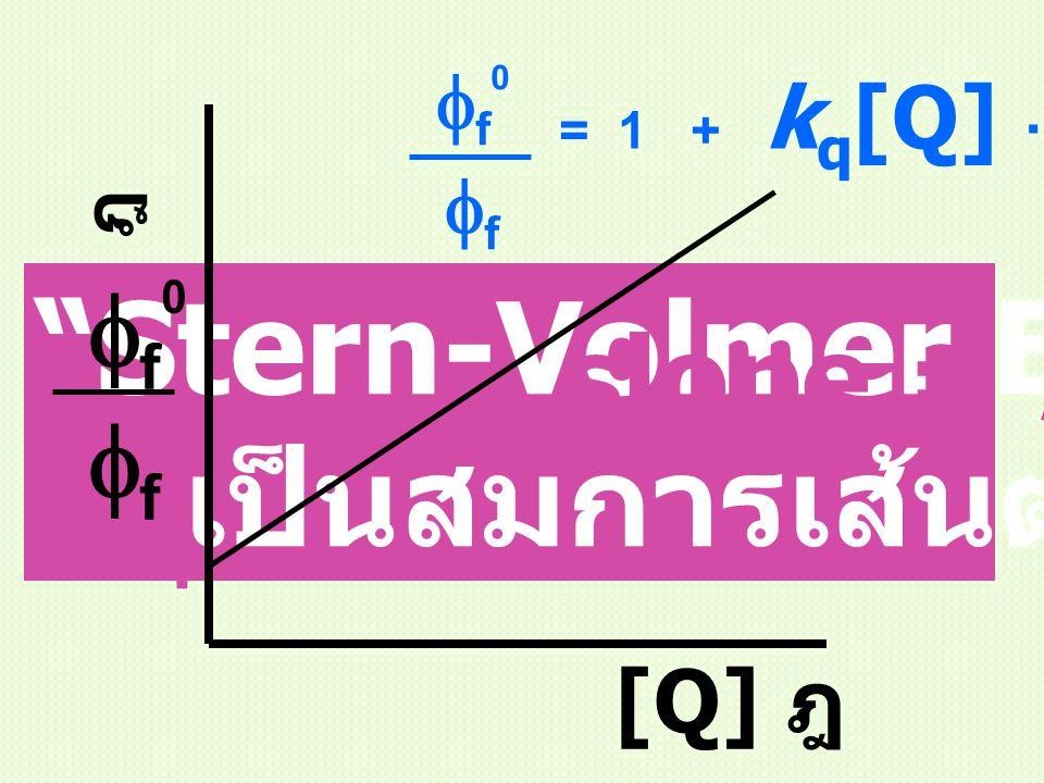 Stern-Volmer Equation เป็นสมการเส้นตรง