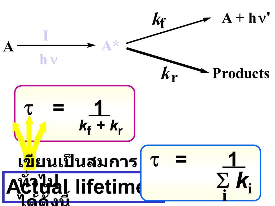 t = 1 t = 1 S ki Actual lifetimes k k เขียนเป็นสมการทั่วไป ได้ดังนี้ i