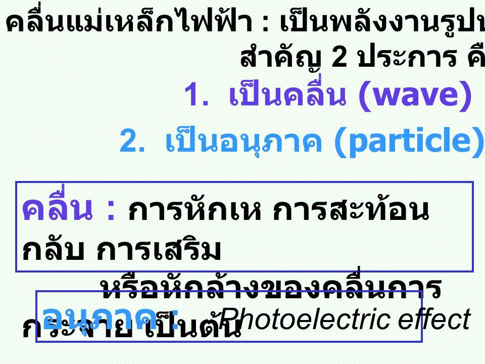 2. เป็นอนุภาค (particle)