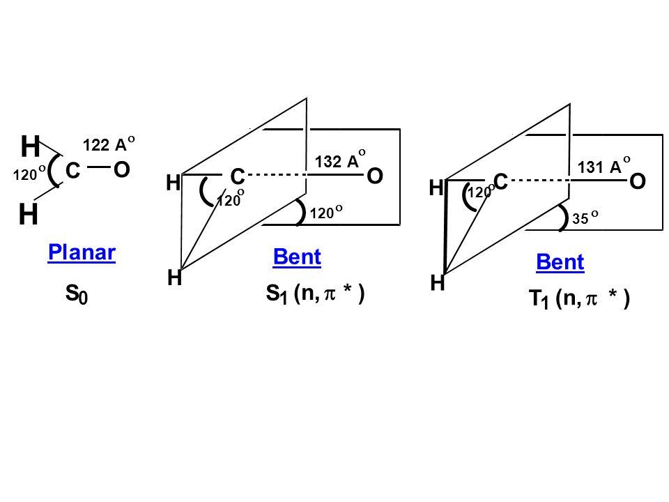 H H C O C O H C O H Planar Bent Bent H H S S (n, p * ) T (n, p * ) 1 1