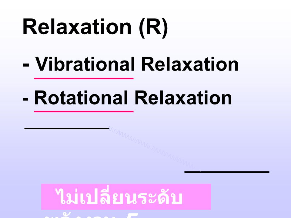 - Vibrational Relaxation