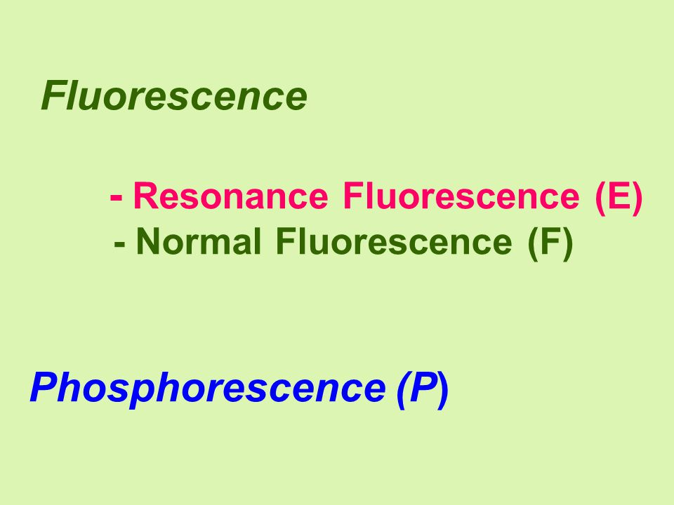 - Resonance Fluorescence (E)