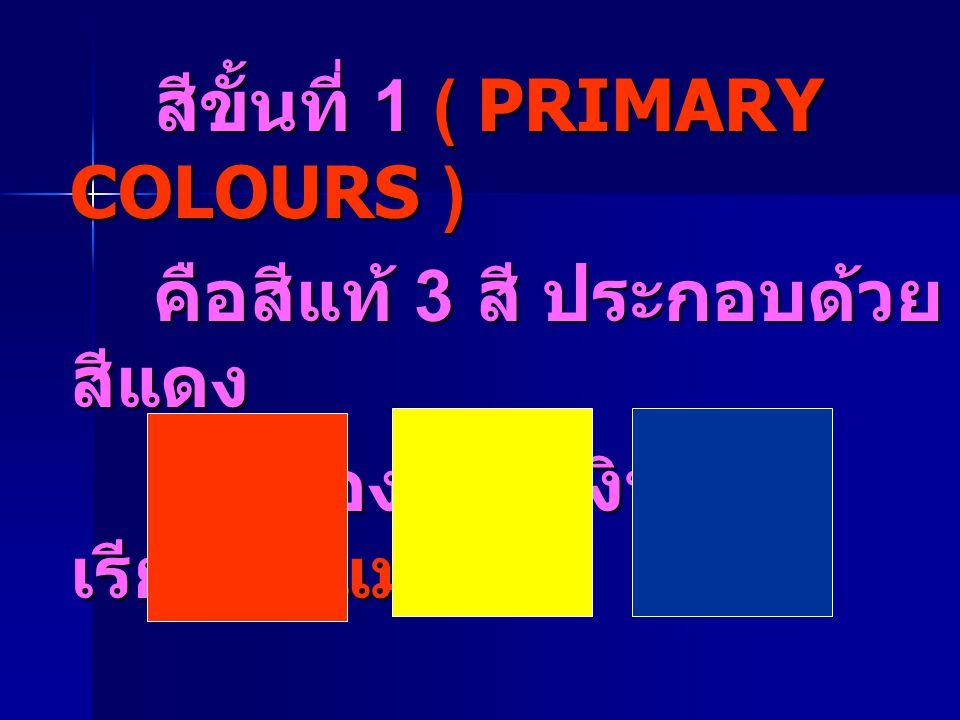 สีขั้นที่ 1 ( PRIMARY COLOURS )