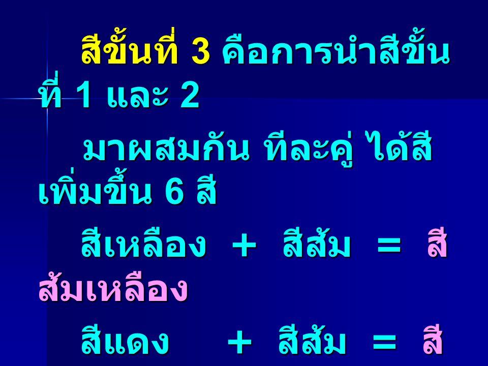 สีขั้นที่ 3 คือการนำสีขั้นที่ 1 และ 2