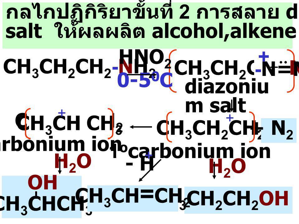 กลไกปฏิกิริยาขั้นที่ 2 การสลาย diazonium
