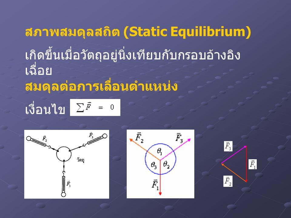 สภาพสมดุลสถิต (Static Equilibrium)