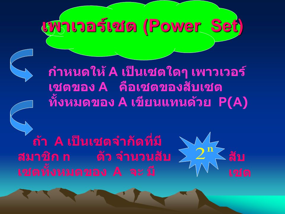 เพาเวอร์เซต (Power Set)