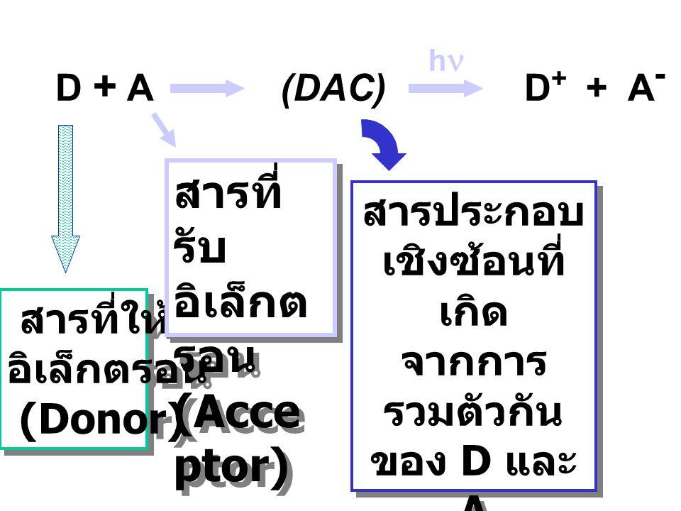 สารที่รับอิเล็กตรอน (Acceptor)