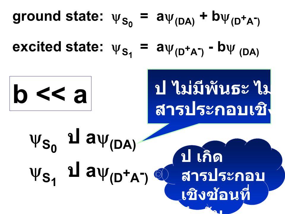 b << a yS0 ป ay(DA) yS1 ป ay(D+A-) ป ไม่มีพันธะ ไม่เกิด
