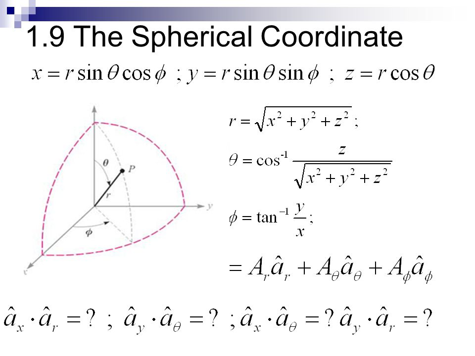1.9 The Spherical Coordinate